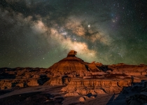 Bisti Badlands New Mexico Milky Way