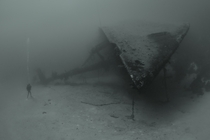 Black and White Abandoned Shipwreck