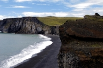 Black beaches of Southern Iceland