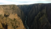 Black Canyon of the Gunnison National Park Colorado - From the Less Explored North Rim