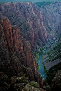 Black Canyon of the Gunnison - one of the steepest canyons