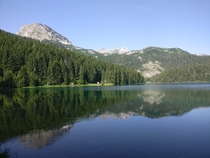 Black lake Durmitor National Park Montenegro  x
