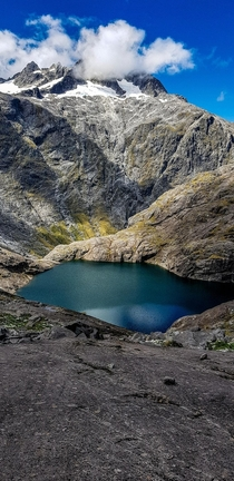 Black Lake on Gertrude Saddle Fiordland National Park NZ  x