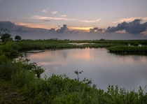 Black Point Wildlife Drive Sunset Titusville FL USA  by lukeastorey