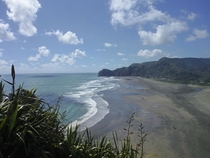 Black sand beach in Auckland NZ