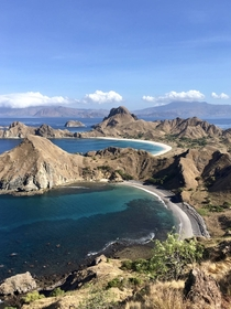 Black sand beach Komodo National Park Indonesia