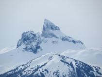 Black Tusk Garibaldi BC after a fresh snowfall  x