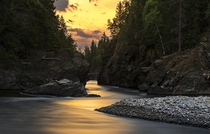 Blackwater River Sunset Quesnel BC Canada