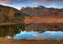 Blea Tarn a Lake in the Cumbrian District of England  by Aubrey Stoll