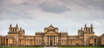 Blenheim Palace - Oxfordshire England - Built between  and  in the flamboyant European Baroque style by architect Sir John Vanbrugh for the Dukes of Marlborough