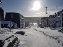 Blizzard in St Johns NL Canada