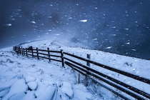 Blizzard in the High Peak Derbyshire by John Finney