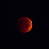 Blood moon near Kitchener Ontario