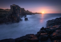 Blood moon rising over bombo quarry Australia xOC mattyjameshopkins to check out more