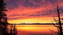 Blood orange sunset over Lake Tahoe