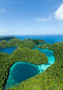 Blue hole from above in Micronesia Photo by Ippei amp Janine Naoi