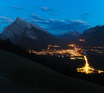 Blue hour at Banff Alberta