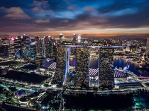 Blue hour at Marina Bay Sands Singapore