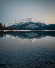 Blue Hour at Spray Lakes Canmore Alberta x