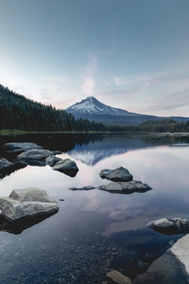 Blue hour at Trillium lake Oregon