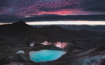 Blue hour atop the Tongariro Alpine Crossing New Zealand