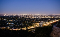 Blue Hour from the Getty Los Angeles and Culver City