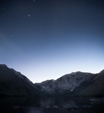 Blue hour in the beautiful Eastern Sierras Convict Lake California  andrewsantiago_