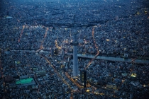 Blue hour in Tokyo Japan  Photographed by Sandro Bisaro