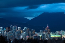 Blue Hour in Vancouver When the day breaks and the city gets moody