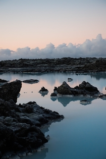 Blue Lagoon Iceland   Dusk at the hot silica pools of south west Iceland David Sheldrick