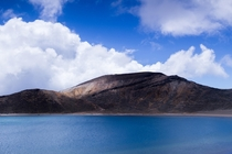 Blue Lake in Tongariro National Park New Zealand