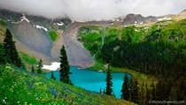 Blue Lake near Ridgeway Colorado  by Mickey Shannon