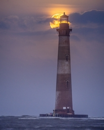 Blue Moon over the Morris Island Lighthouse