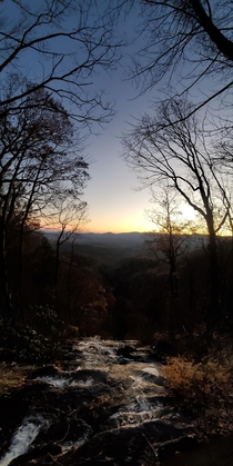 Blue ridge mountains on a crisp fall night