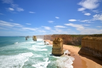Blue skies over the Twelve Apostles in Victoria Australia  Photographed by Max M