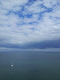 Blue sky through the clouds Near Howth Ireland