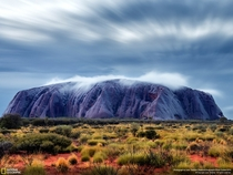 Blue Uluru Red Centre Northern Territory Australia by Julie Fletcher