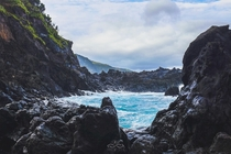 Blue Waters amp Volcanic Rock of Flores Island in the Azores