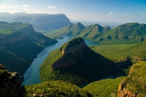 Blyde River Canyon Mpumalanga South Africa Largest green canyon in the world and third largest canyon overall