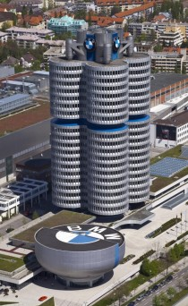 BMW Tower and museum Munich Germany Karl Schwanzer - Author: Diego Delso, Wikimedia Commons, CC-BY-SA