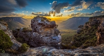 Boars Head Rock Blue Mountains Australia  by Gary Hayes