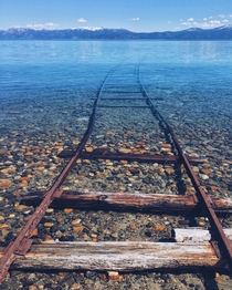 Boat launching tracks in Lake Tahoe CA  by uTheRealHeathBar x-post rpics