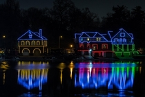 Boathouse Row circa Christmas of