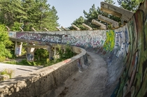 Bobsleigh track that once saw its glory during the Olympic wintergames of Sarajevo in  has been abandoned since the civil war in the early s