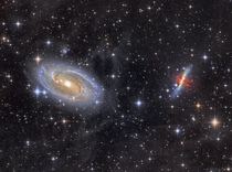 Bodes Galaxy and the Cigar Galaxy as seen through the Milky Ways IFN