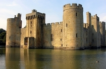 Bodiam Castle in East Sussex England