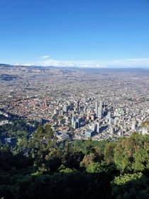 Bogot Colombia as seen from Monserrate