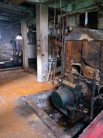 Boiler Room in downtown Baltimore the room is abandoned and left to rot while the rest of the building functions normally