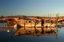 Bombay Beach California before they bulldozed the good stuff