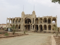 Bombed out bank in Massawa Eritrea